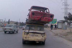 Транспортировка наклюкавшейся колымаги