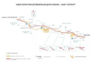 Трасса М11 схема на карте