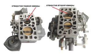 Переходные системы камер карбюратора