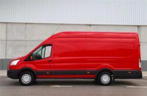 Форд Транзит красный