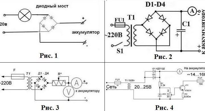 Схемы зарядных устройств для аккумулятора автомобиля
