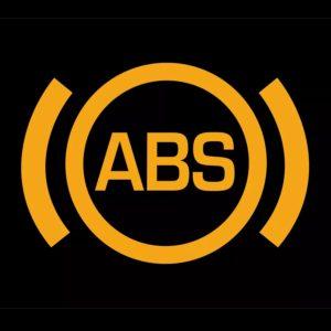 Значок антиблокировочной тормозной системы на панели приборов